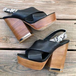ASH Rebecca Platform Leather Sandals